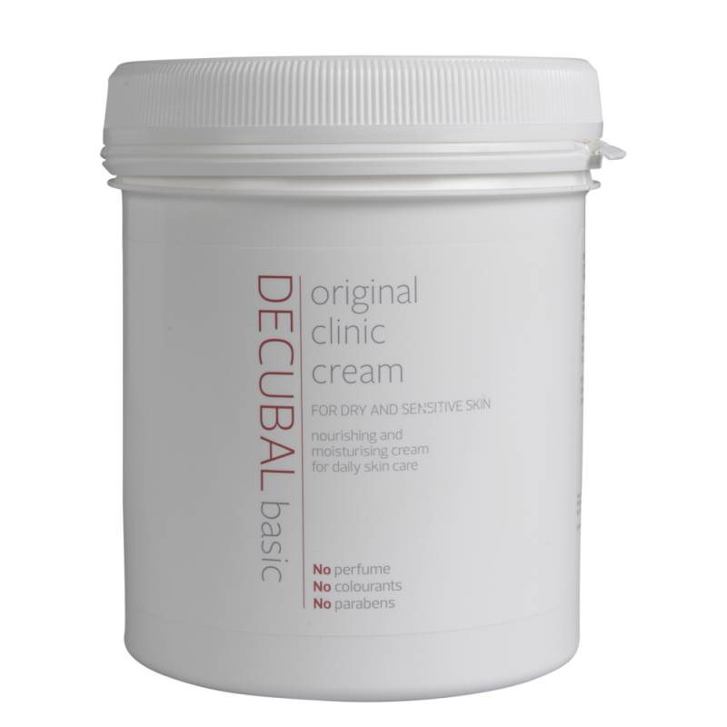 Hudcreme, Decubal Clinic, 1000 ml, uden farve og parfume, 38% fedt