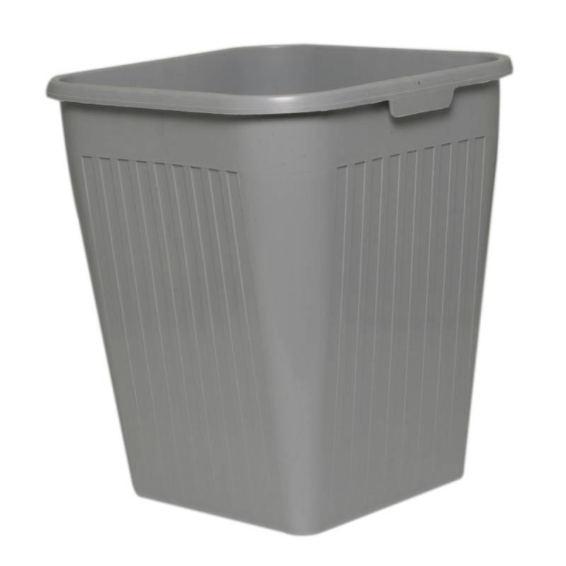 Papirkurv, Bantex, 25 l, grå
