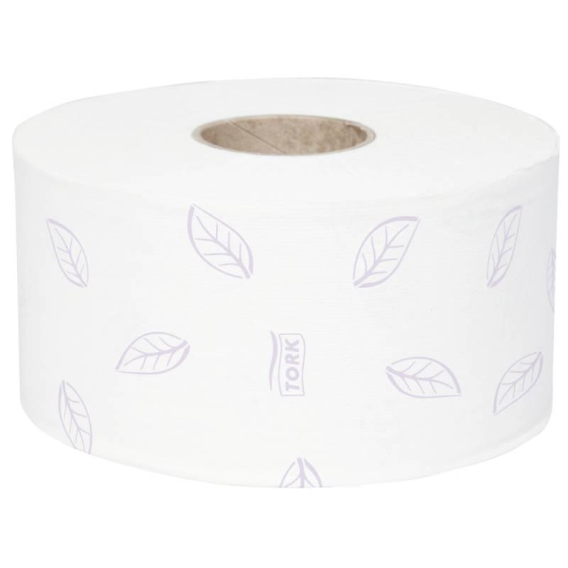 Image of   Jumborulle, Tork T2 Premium, 3-lags, 120m x 9,7cm, Ø18,7cm, hvid, blandingsfibre