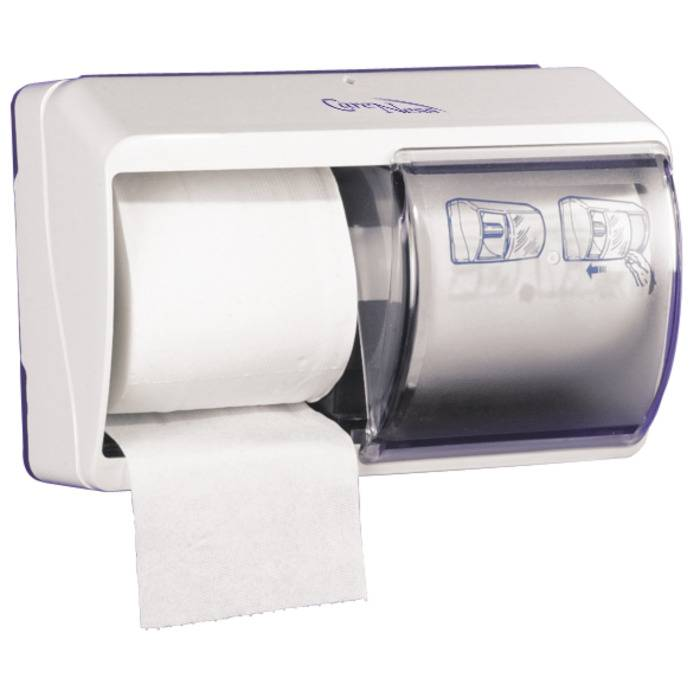 Image of   Dispenser, Abena, 25,5x17,7cm, transparent, plast, til 2 ruller toiletpapir