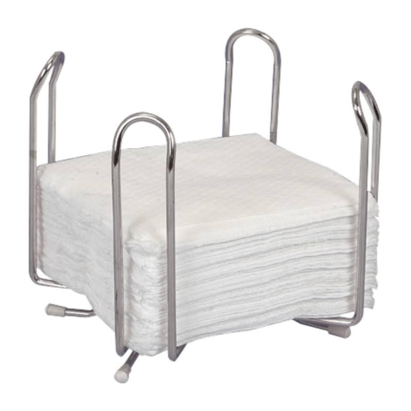 Servietholder, 13x13x13cm, krom, stål, til kaffeserviet, 1/4 fold