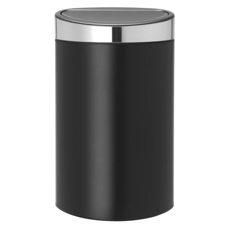 Image of   Affaldsspand, Brabantia Touch bin, 40 l, sort *Denne vare tages ikke retur*