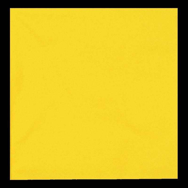 Image of   Frokostserviet, Bulkysoft, 3-lags, 1/4 fold, 33x33cm, gul, 100% nyfiber