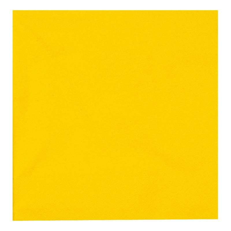 Image of   Frokostserviet, Abena Gastro, 3-lags, 1/4 fold, 33x33cm, gul, 100% nyfiber
