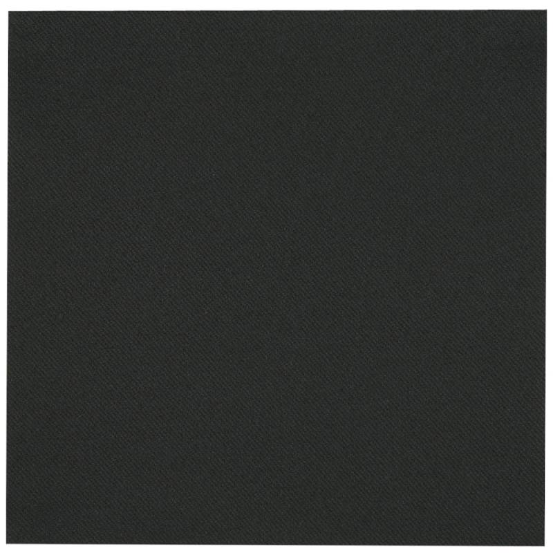Image of   Middagsserviet, Abena Gastro-Line, 1/4 fold, 48x48cm, sort, airlaid
