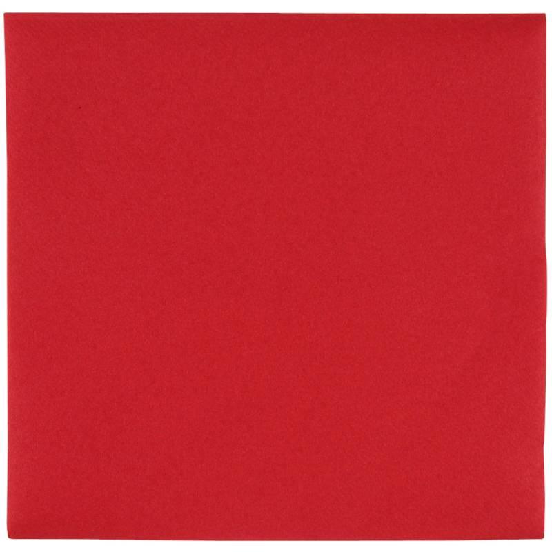 Image of   Middagsserviet, Abena Gastro-Line, 1/4 fold, 48x48cm, rød, airlaid