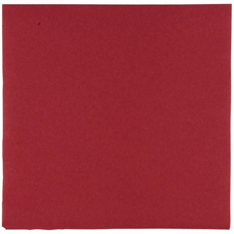 Image of   Middagsserviet, Abena Gastro-Line, 1/4 fold, 48x48cm, bordeaux, airlaid