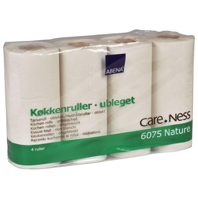 Image of   Køkkenrulle, Abena Care-Ness Nature, 2-lags, 16,8m x 21,2cm, Ø10cm, natur, 100% genbrugspapir