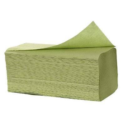 Billede af Håndklædeark, Satino, 1-lags, C-fold, 33x23cm, grøn, 100% genbrugspapir