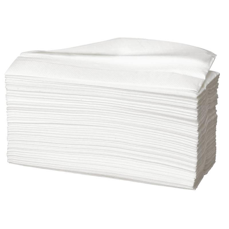 Billede af Håndklædeark, Abena Care-Ness Excellent, 2-lags, C-fold, 31x23cm, hvid, 100% nyfiber