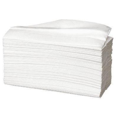 Billede af Håndklædeark, neutral, 2-lags, C-fold, 31x23cm, hvid, 100% nyfiber