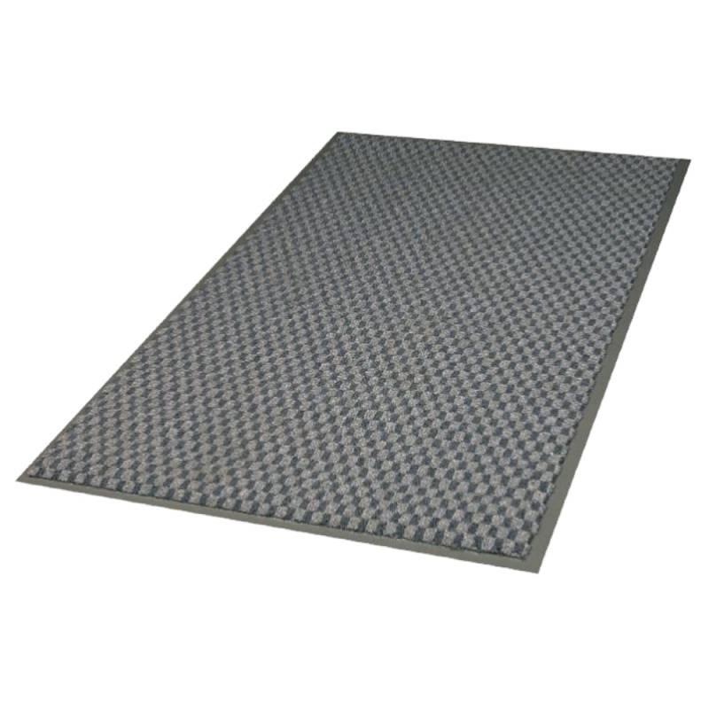 Image of   Tekstilmåtte, 3M Nomad Aqua 6500, 6500GY91, 1,5m x 90cm x 9mm, grå, PP/PA/PVC