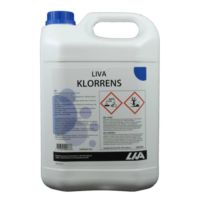 Klorrengøring, Liva, 5 l, uden farve og parfume