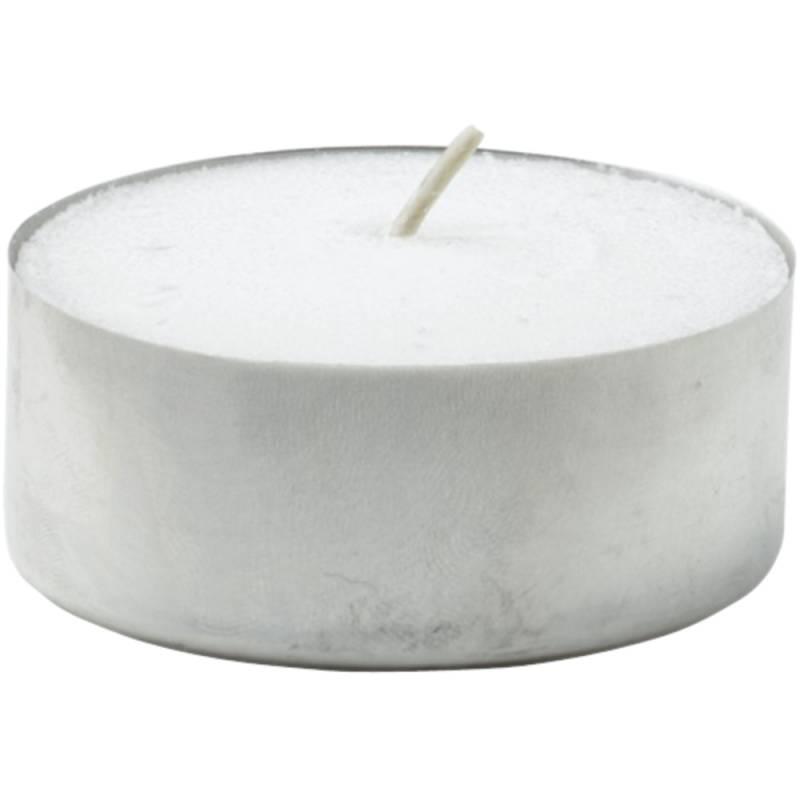 Fyrfadslys, Duni, Ø3,9cm, hvid, 8 timer, 100% paraffin *Denne vare tages ikke retur*