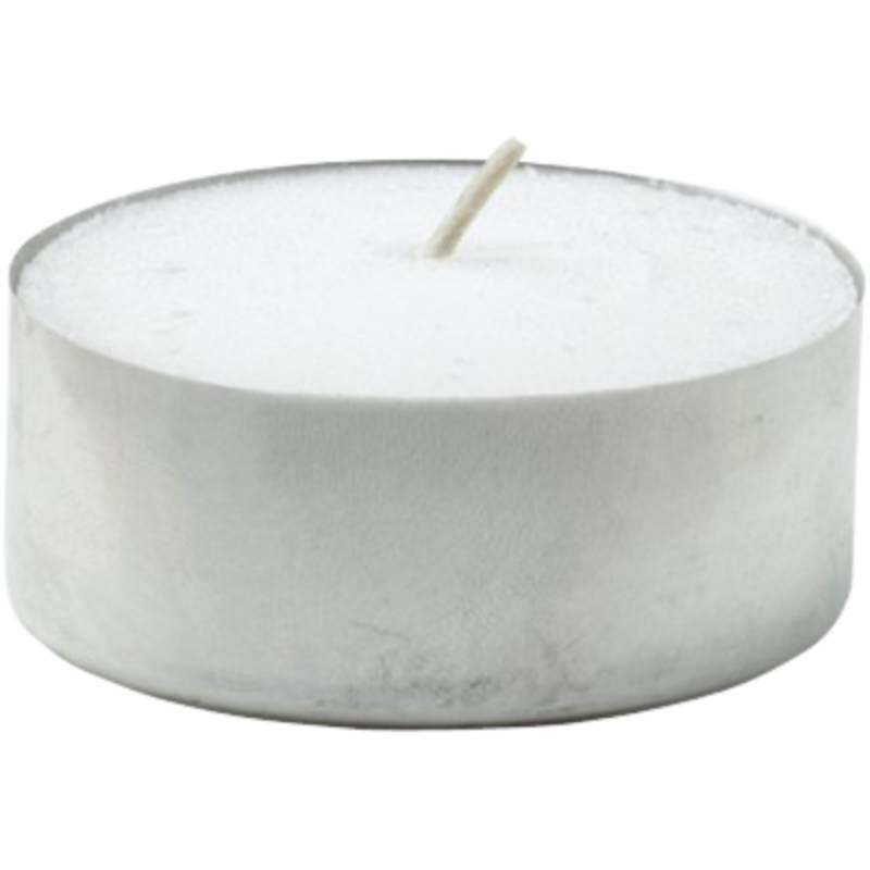 Fyrfadslys, Duni, Ø3,9cm, hvid, 6 timer, 100% paraffin *Denne vare tages ikke retur*