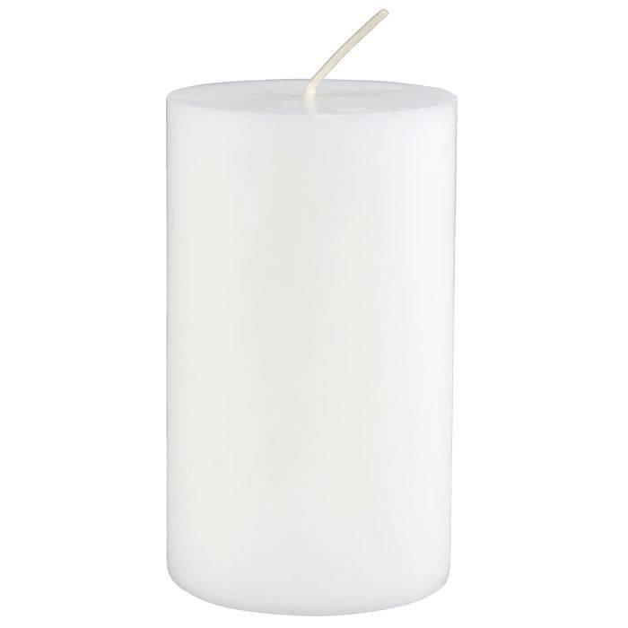 Image of   Bloklys, 12cm, Ø7cm, hvid, 40 timer, 100% stearin *Denne vare tages ikke retur*