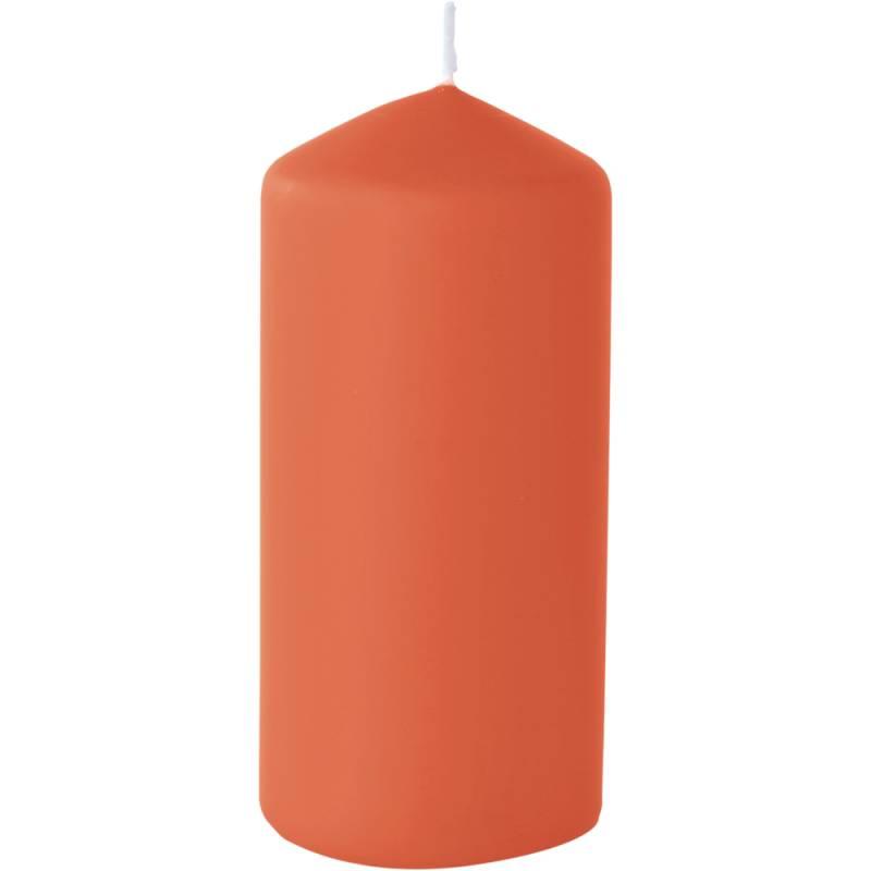Image of   Bloklys, Duni, 15cm, Ø7cm, mandarin, 50 timer, mat *Denne vare tages ikke retur*