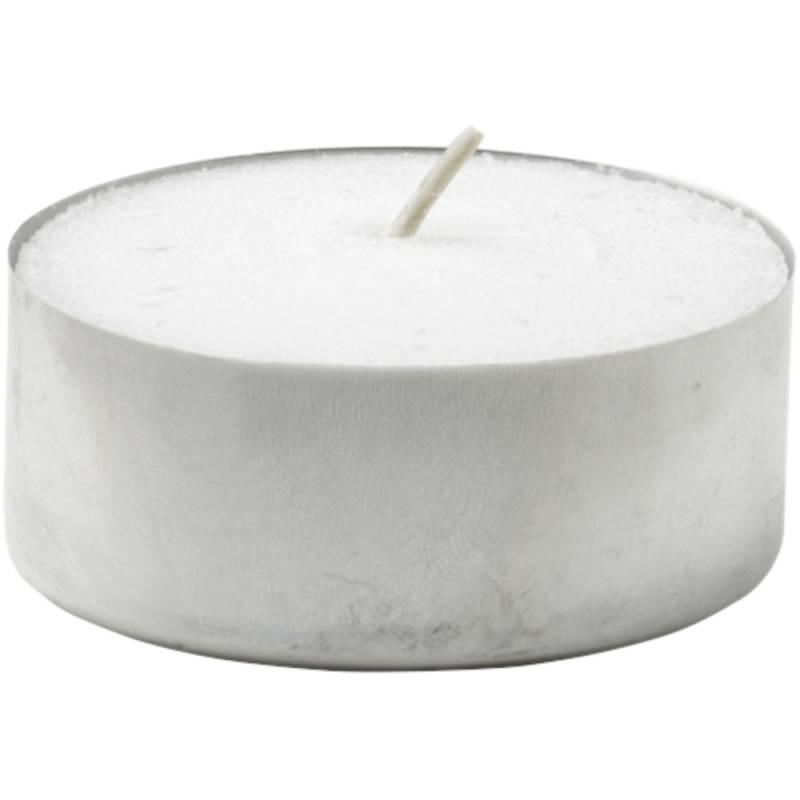 Fyrfadslys, Duni, Ø3,8cm, hvid, 4 timer, 100% paraffin *Denne vare tages ikke retur*
