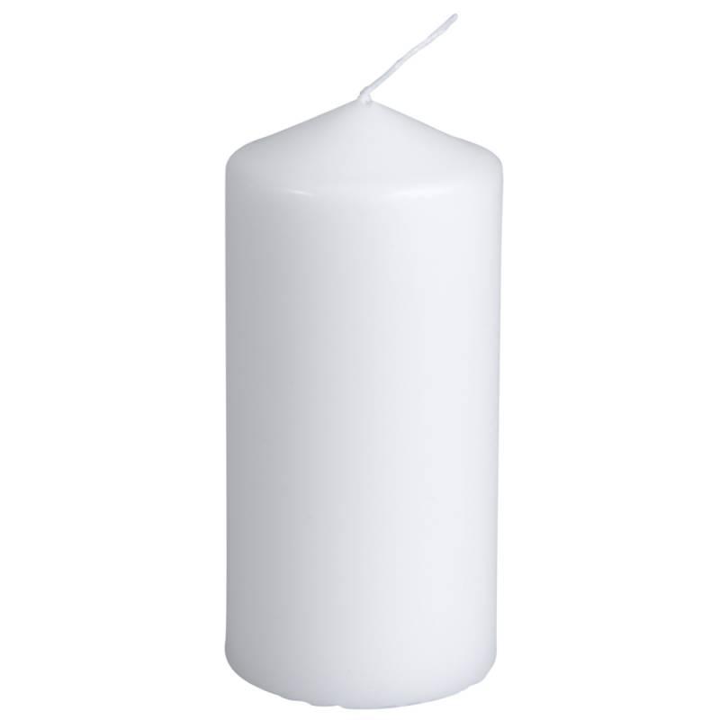 Image of   Bloklys, 12cm, Ø6cm, hvid, 35 timer, 100% paraffin