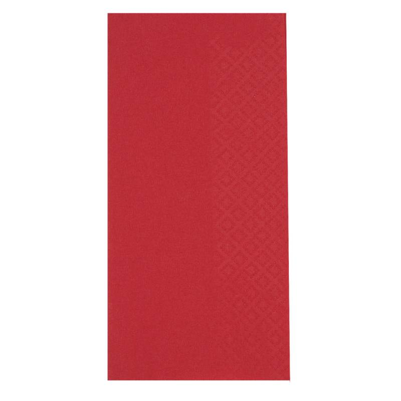 Middagsserviet, Abena Gastro-Line, 2-lags, 1/8 fold, 40x40cm, rød, 100% nyfiber