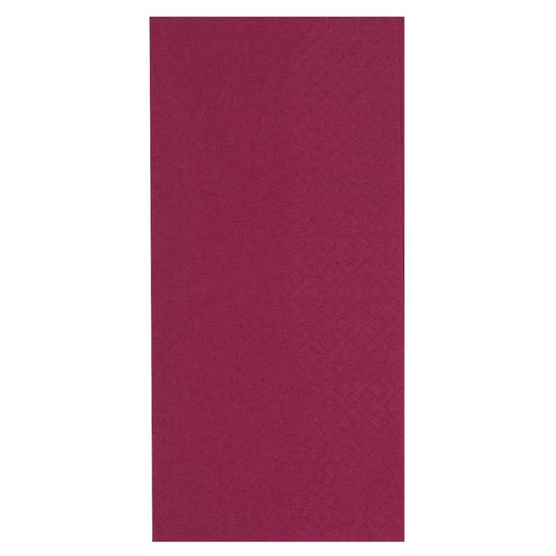 Middagsserviet, Abena Gastro-Line, 2-lags, 1/8 fold, 40x40cm, bordeaux, 100% nyfiber