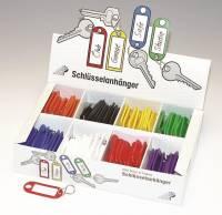 Nøglebrikker assorterede farver i display 200 stk