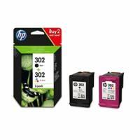 HP 302 blækpatroner 2-pak - combipakke (1 sort 3,5 ml + 1 farve 4 ml) X4D37AE