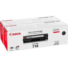Image of   Black 2-Packs Laser Toner (718)