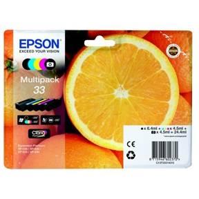 Image of   33 y/c/m/pb/bl Claria Premium Ink w/alarm