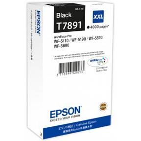 Image of   Black Inkjet Cartridge HC (T7891)