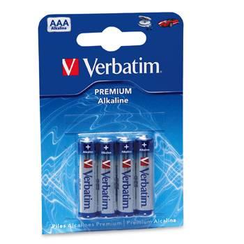 Billede af Verbatim Alkaline AAA/LR03 1,5V (4)