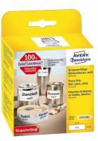 Etiket Avery stærk t/printer 19x64mm 450stk/rul polyester