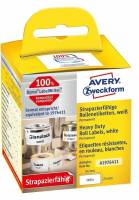 Etiket Avery stærk t/printer 25x54mm 160stk/rul polyester