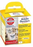 Etiket Avery stærk t/printer 59x102mm 50stk/rul polyester
