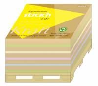 Kubusblok Stick'N 76x76mm ass 400blade på palle bund
