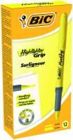 Tekstmarker Bic brite liner Grip gul