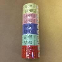 Garderobenumre ASS 2-delt 48 2x500stk ass.farver