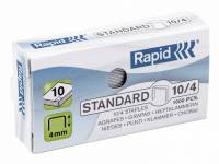 Hæfteklammer galvaniseret 10/4 Rapid standard 1000stk/pak