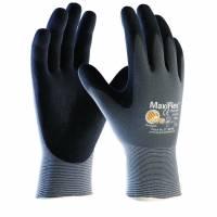 Handsker Maxi-flex grå/sort nylon/lycra nr7 12par/pak