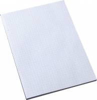 Standardblok u/huller kvadr. 60g hvid A5