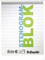Stenogramb- og universalblok Esselte 205x165mm 75bl/blk med omslag