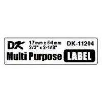Label Brother hvid DK11204 17x54mm multi 400stk/rul