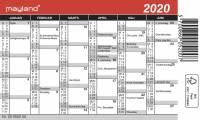 Mini kalender 12x7cm 20 0520 00
