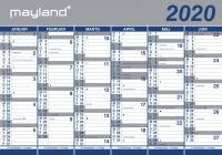 Vægkalender 2x6mdr papir 100x70cm 20 0641 00