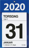 Kontorafrivningskalender m/bags. tekst 12x16cm 20 2530 00