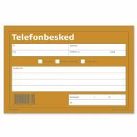Telefonbesked 100bl 148x100mm tværform. 92 2206 10