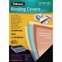 Plastforside til indbinding Fellowes 240mic sort A4 PP 100stk/pak