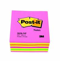 Post-it Kubus neonfarver 76x76mm 450stk/stk 2028NP