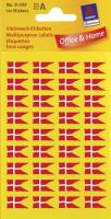 Etiket Avery flag dansk 9x16mm 144stk/pak