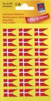 Etiket Avery flag dansk 12x22mm 84stk/pak